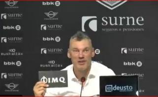 Jasikevičius Jokubaitį vadino ateities žaidėju ir prajuokino per spaudos konferenciją