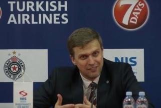 """Belgrade D.Adomaičiui šypseną kėlė klausimas apie """"Žalgirį"""""""