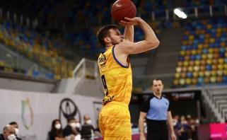 """Rezultatyviausią mačą Europos taurėje sužaidęs T.Dimša atvedė """"kanarėles"""" į pergalę"""
