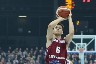 """Lietkabelis"" įveikė Latvijos čempionus su A.Labucku"
