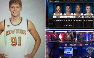 """Nesusipratimas: NBA analitikai """"išbraukė"""" M. Kuzminską iš """"Knicks"""" sudėties"""