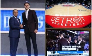 NBA naujokų biržoje pašauktas D.Sirvydis: džiaugiuosi matydamas, kas manęs laukia