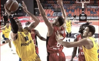 """Prieš dvikovą su """"Žalgiriu"""" - sunki """"Maccabi"""" pergalė Izraelio taurės starte"""