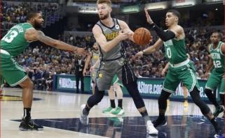 """D.Sabonis akistatoje su """"Celtics"""" žibėjo tik vieną kėlinį"""
