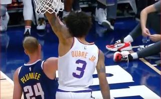 Gražiausi NBA momentai - K.Oubre dėjimas per M.Plumlee ir N.Jokičiaus perdavimas
