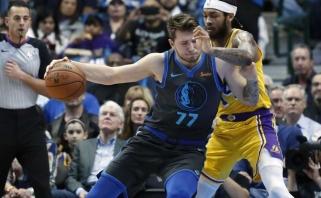 """Puikaus Dončičiaus pastangų neužteko, """"Mavericks"""" nusileido LeBrono laukiančiai """"Lakers"""""""