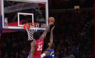 Įspūdingas J.Embiido blokas - gražiausias NBA epizodas