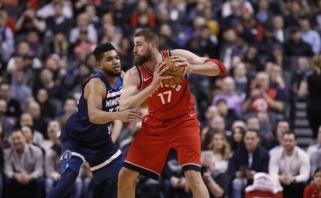 NBA: solidus J.Valančiūno žaidimas, K.Love'o trauma ir 60 J.Hardeno taškų