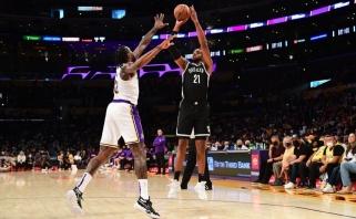"""""""Nets"""" sutriuškino """"Lakers"""", abiejų komandų žvaigždės ilsėjosi"""