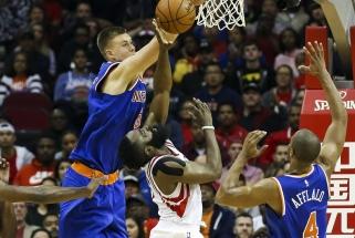 K.Porzingis ir J.Hardenas - naudingiausi NBA savaitės žaidėjai