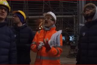 """""""Iš arti"""": """"Neptūno"""" žaidėjai apsilankė laivų statykloje (video)"""