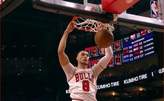 NBA Top 10 viršūnėje - Z.LaVine'o dėjimas apsisukus 360 laipsnių kampu