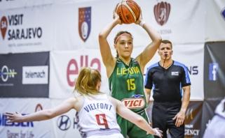 Europos čempionate jaunės nusileido belgėms ir kovos dėl išlikimo A divizione