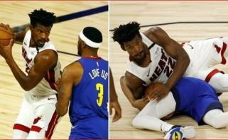 """Heat"" lyderį teisėjai privertė pasikeisti marškinėlius, NBA debiutavo B.Bolas"