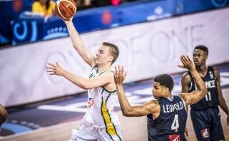 Lietuviai po atkaklios kovos nusileido prancūzams ir pasaulio čempionate liko be medalių