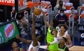 LeBrono dėjimas ir McDanielso blokas Zionui - gražiausi NBA nakties momentai