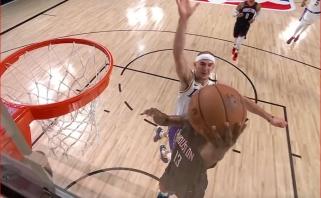 Įspūdingas blokas Hardenui bei LeBrono ir Westbrooko dėjimai - gražiausi NBA nakties momentai