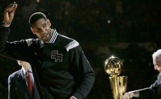 """T.Duncanas apsisprendė: """"Spurs"""" legenda traukiasi iš krepšinio"""