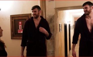 """""""Lietkabelio"""" šokėjoms - brolių ir S.Jasaičio dėmesys (video)"""