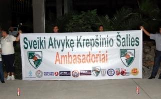 Turkijoje žalgiriečiai sutikti kaip pasaulinio garso žvaigždės – su fejerverkais ir skanduotėmis