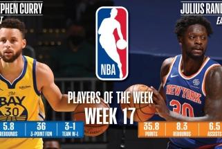 """Kosminę statistiką demonstravę """"Warriors"""" superžvaigždė ir """"Knicks"""" lyderis – NBA savaitės žaidėjai"""