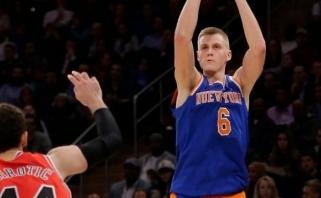 """NBA: K.Porzingis vėl vedė į pergalę, o """"Cavs"""" įteikė dovaną """"Raptors"""" (rezultatai)"""