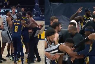 """Be Sabonio """"Pacers"""" neprilygo """"Spurs"""", dvikova vos nevirto masinėmis muštynėmis (rezultatai)"""