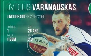 O.Varanauskas debiutavo Prancūzijos aukščiausioje lygoje mače prieš Eurolygos klubą
