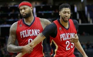 """D. Motiejūnas nuo atsarginių suolo stebėjo """"Pelicans"""" pralaimėjimą Majamyje"""