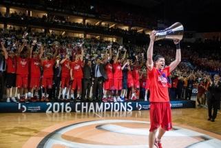 CSKA išbarstė 20 taškų persvarą, bet po pratęsimo tapo Eurolygos čempionais