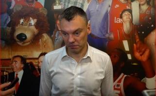 """""""Olympiakos"""" strategas įkando Šarui: tikiuosi, kad Jasikevičiaus replikos nebedarys įtakos teisėjams"""