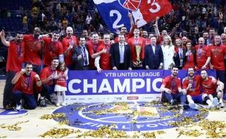 """CSKA krepšininkai įveikė """"Chimki"""" ekipą ir apgynė čempionų titulą"""