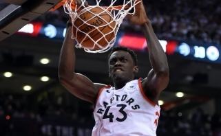 """""""Raptors"""" susitarė su vienu NBA finalo didvyrių P.Siakamu dėl maksimalaus kontrakto"""