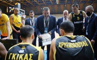 J.Mačiulis - rezultatyviausias, bet AEK krito Supertaurės pusfinalyje