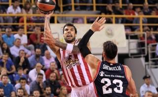 """""""Olympiacos"""" naująjį """"Baskonia"""" strategą P.Prigioni pakrikštijo pralaimėjimu"""
