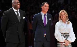 """M.Johnsonas įvardijo priežastis, dėl kurių jis paliko """"Lakers"""" prezidento postą"""