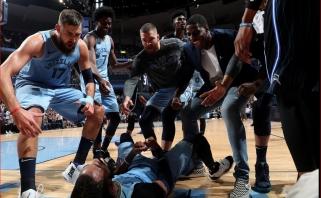 """Lemiamais momentais gynyboje žibėjęs Valančiūnas ir """"Grizzlies"""" šventė dar vieną pergalę"""