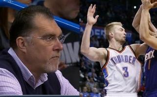 """Pergalingą sūnaus žaidimą stebėjo A.Sabonis, """"Thunder"""" pranoko """"Suns"""" ekipą"""