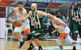 """Graikijos finalo seriją """"Panathinaikos"""" pradėjo sutrypdami varžovus"""