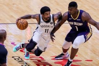 """Irvingo šou užtikrino """"Nets"""" pergalę Naujajame Orleane (rezultatai)"""