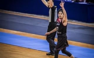 Atrankoje į pasaulio čempionatą - neįtikėtinas japono metimas su sirena
