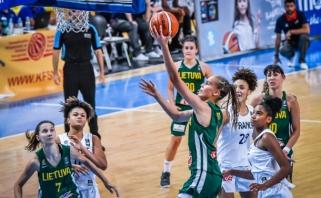 Merginos Europos čempionate startatvo pergale prieš Prancūziją