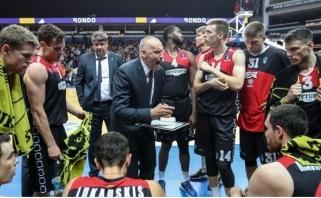 """""""Lietuvos rytas"""" antroje mačo pusėje sutriuškino """"Partizan"""" krepšininkus"""