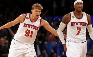 """Geriausios M.Kuzminsko NBA karjeros rungtynės padėjo """"Knicks"""" išplėšti pergalę"""