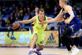 """""""Barcelona"""" su K.Pangosu iškovojo sunkią pergalę Rusijoje"""