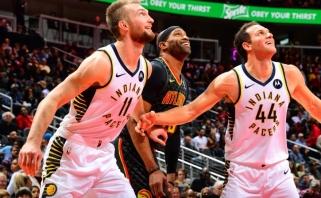 """Lemiamu metu spindėjęs D.Sabonis atvedė """"Pacers"""" į dar vieną pergalę"""