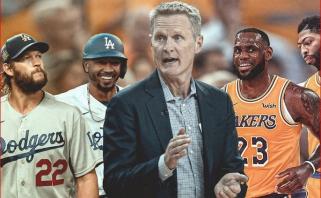 """""""Warriors"""" strategas S.Kerras: vaikystėje sirgau už """"Lakers"""", dabar negaliu jų pakęsti"""