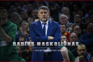 D.Maskolūnas išrinktas Lietuvos vyrų krepšiinio rinktinės vyriausiuoju treneriu
