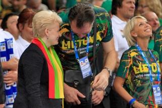 D.Grybauskaitė pasveikino Lietuvą krepšinio 95-mečio proga