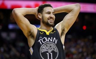"""Į NBA penketus nepatekęs K.Thompsonas: """"Daug lygoje geresnių gynėjų už mane? Ne"""""""